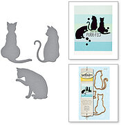 Spellbinders D-Lites Die - Kitty Cats