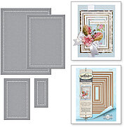 Nestabilities Hemstitch Rectangles Etched Dies Venise Lace