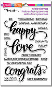 Big Words Happy Perfectly Clear Stamps