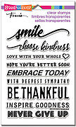 Smile Sentiments Perfectly Clear Stamp