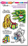 Furry Christmas - Perfectly Clear Stamp