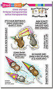 Birthday Splash - House Mouse Perfectly Clear Stamp