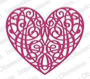 Heart Scroll - Impression Obsession Craft Die