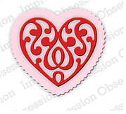 Mini Scroll Heart and Scallop Heart - Craft Die