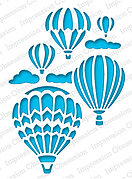 Hot Air Balloons Reverse - Impression Obsession Craft Die