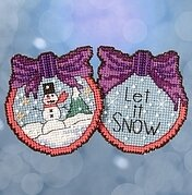 Let it Snow Man - Beaded Cross Stitch Kit