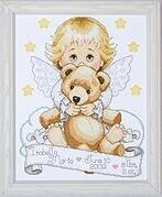 Angel Birth Record - Counted Cross Stitch Kit