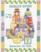 Jack in the Box Baby Birth Record - Cross Stitch Kit