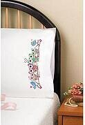 Owls Pillowcase Pair - Stamped Embroidery Kit
