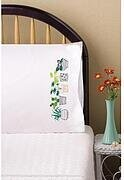 House Plants Pillowcase Pair - Stamped Embroidery Kit