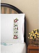 Love Pillowcase Pair - Stamped Embroidery Kit