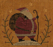 Santa's Hike - Christmas Cross Stitch Pattern