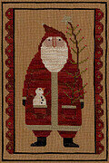 Primitive Santa - Christmas Cross Stitch Pattern