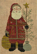 Country Santa - Christmas Cross Stitch Pattern