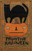 Primitive Halloween - Cross Stitch Pattern