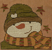 Sam Snowman - Cross Stitch Pattern