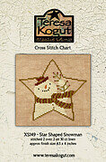 Star Shaped Snowman - Cross Stitch Pattern