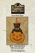 Green Eyed Kitty - Halloween Cross Stitch Pattern