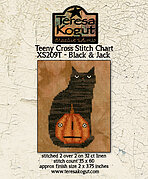 Teeny Black & Jack - Halloween Cross Stitch Pattern