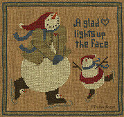A Glad Heart - Christmas Cross Stitch Pattern