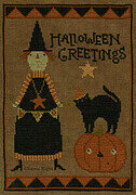 Halloween Greetings - Cross Stitch Pattern
