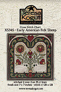 Early American Folk Sheep - Cross Stitch Pattern
