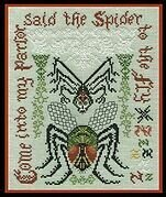 Spider and the Fly - Cross Stitch Pattern