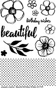 Beautiful Birthday Wishes - Clear Stamp