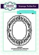 Vivian's Royal Wreath - Sue Wilson Unmounted Rubber Stamp