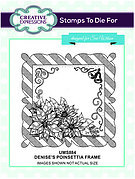 Denise's Poinsettia Frame - Precut Rubber Stamp
