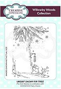 Snowy Fir Tree - Precut Rubber Stamp