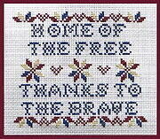Home of the Free - Cross Stitch Pattern