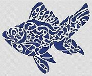 Tribal Fish - Cross Stitch Pattern