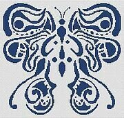 Tribal Butterfly - Cross Stitch Pattern