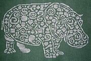 Tribal Hippo - Cross Stitch Pattern