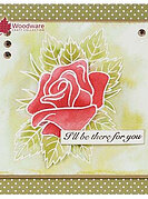 Rose Bloom - Woodware Clear Singles Stamp