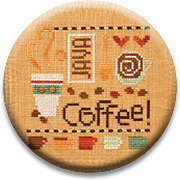 A Little Coffee - Zappy Dots Needle Nanny
