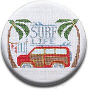 Surf Life - To the Beach - Zappy Dots Needle Nanny