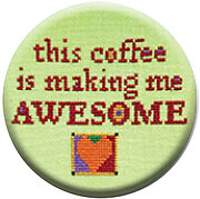 This Coffee is Making Me Awesome - Zappy Dots Needle Nanny