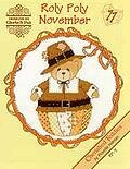 Roly Polys November - Cherished Teddies Cross Stitch Pattern