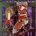 Wish Upon a Star Christmas Stocking - Cross Stitch Pattern