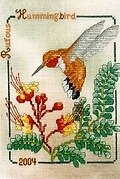Rufous Hummingbird - Cross Stitch Pattern