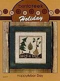 Snappers Holiday Happy Arbor Day  - Cross Stitch Pattern