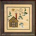 Winter Snapperland - Chalet - Cross Stitch Pattern