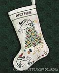 Britty Kitty Christmas Stocking - Cross Stitch Pattern