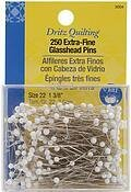 Size 22 250/Pkg Dritz Quilting Extra Fine Glass Head Pins