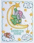 Crescent Moon Birth Announcement - Cross Stitch Kit