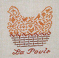 French Hen - Cross Stitch Pattern