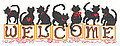 Welcome Kittens - Cross Stitch Pattern