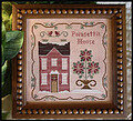 Poinsettia House - Cross Stitch Pattern